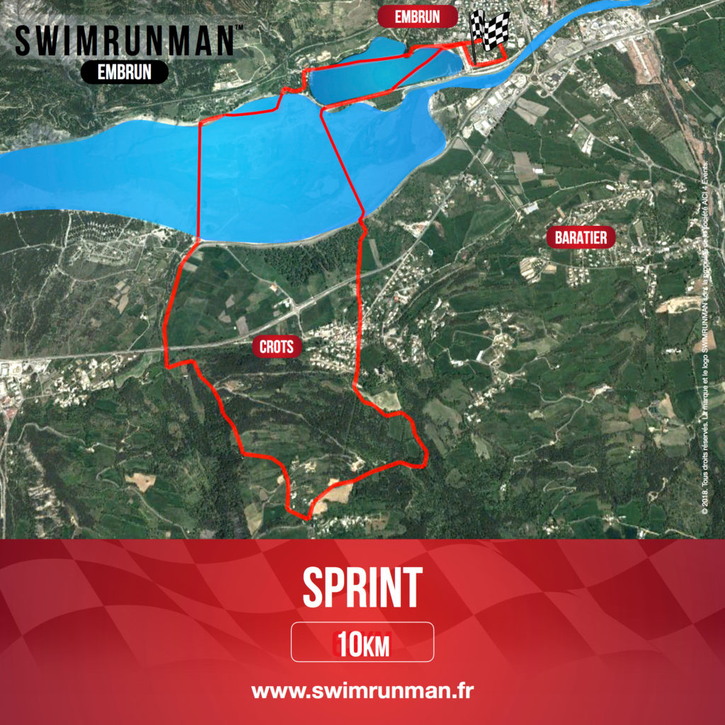 Sprint swimrunman embrun