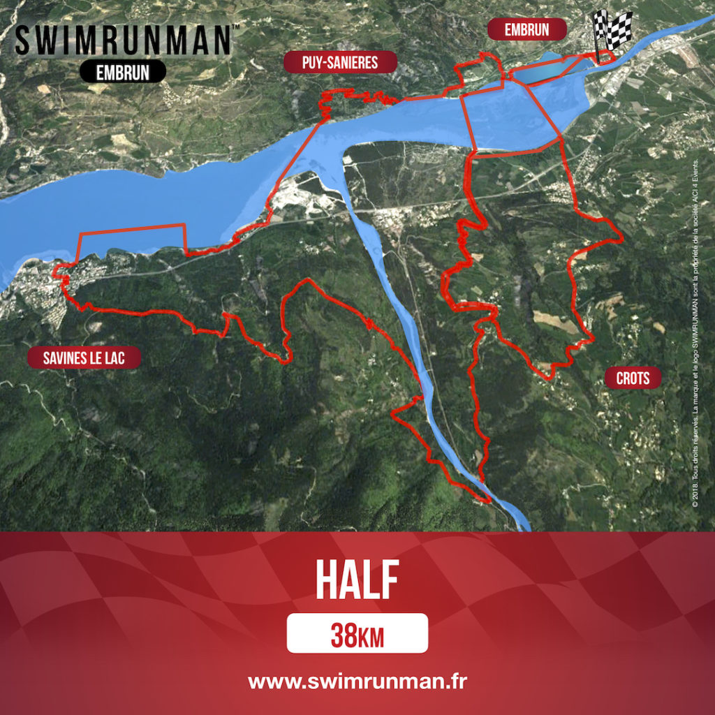swimrun shop Embrun half course