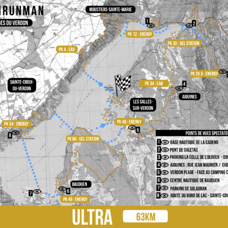 Parcours ULTRA ravitaillement