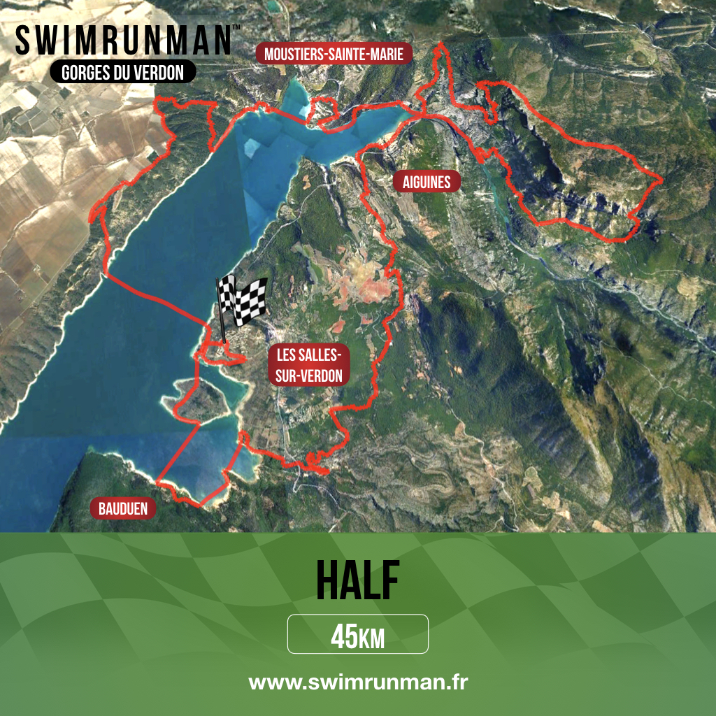 parcours swimrunman half verdon
