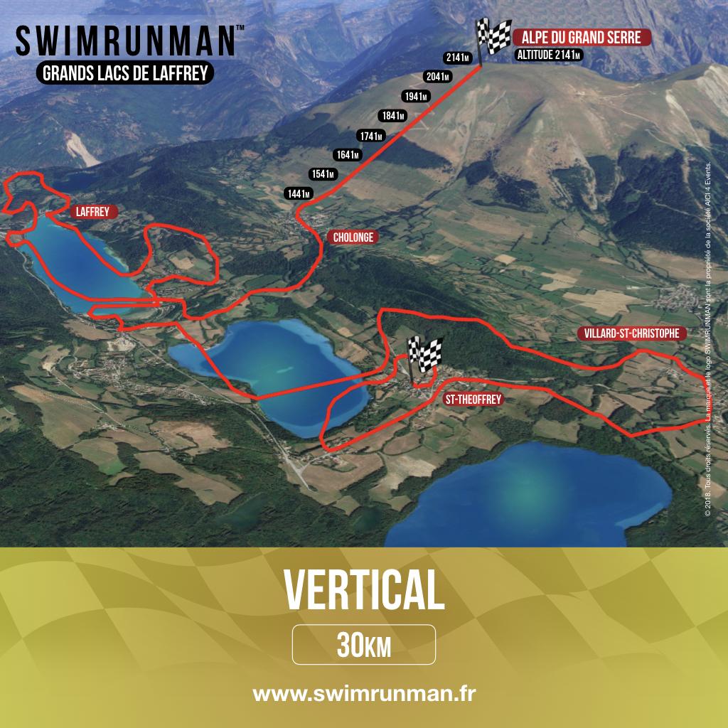 Parcours swimrun vertical swimrunman laffrey